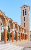 Bell tower of the church of Saint Nektarios. Faliraki. Rhodes Royalty Free Stock Photography
