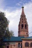 Bell tower of the Church of Saint Nicolas in Yaroslavl, Russia. Stock Photos