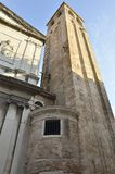 Bell Tower of the Church of San Silvestro Royalty Free Stock Images