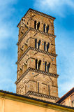 Bell Tower at the Church of Santa Francesca Romana, Rome Royalty Free Stock Images