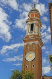 Bell Tower of the Church of Santi Apostoli in Venice Italy Stock Images