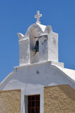 Bell tower of church at Santorini Royalty Free Stock Images