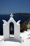 Bell tower of church at Santorini, Greece Stock Photo