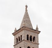 Bell tower of the church of St. Anthony (Anthony of Padua). Pula Royalty Free Stock Photography