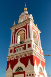 Bell tower church of St. George in street  Varvarka, Russia Royalty Free Stock Photo