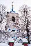 The bell tower of The Church of St. George. Village Of Sloboda, Stock Photos