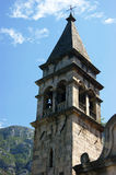 The bell tower of the church of St. Matthew Stock Images