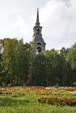 Bell tower of Church of Transfiguration in Ostashkov. Russia Stock Photo