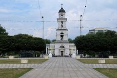 Bell tower in City Center of Chisinau, Moldowa Stock Photography