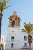 The bell tower of city hall building in Cadiz Stock Photos