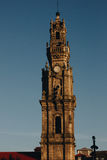 Bell tower of the Clerigos Church in Porto, Portugal Royalty Free Stock Image