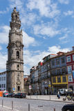 Bell tower of the Clerigos Church in Porto in Portugal, 23 may 2 Royalty Free Stock Photo