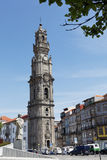 Bell tower of Clerigos church in Porto, Portugal Royalty Free Stock Photos