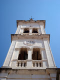 Bell tower with clock Stock Image