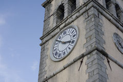 Bell tower clock Stock Images