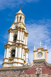 Bell Tower and Clock in Ajijic Royalty Free Stock Photography