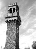 Bell Tower with clock in Murano Royalty Free Stock Image