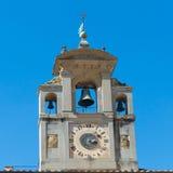 Bell tower close up of Santa Maria della Pieve Church Royalty Free Stock Image