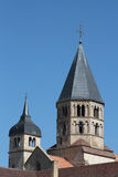 Bell tower of Cluny Abbey Stock Image