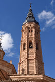 Bell tower Collegiate church of Santa Maria la Mayor,. Calatayud. Zaragoza province, Aragon Royalty Free Stock Image
