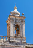The bell tower of Collegiate Church of St Paul in Rabat, Malta. The view of the bell tower of Collegiate Church of St Paul in Rabat, Malta Royalty Free Stock Image