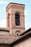 Bell tower in Corinaldo, Marche, Italy Stock Photos
