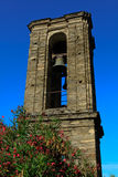 Bell tower in Corsica. In San Gavino dAmpugnani village Royalty Free Stock Images