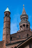 Bell tower of the Cremona's Cathedral, Cremona, Italy Royalty Free Stock Photos