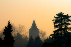 Bell tower in dawn Royalty Free Stock Images