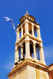 Bell tower detail of a church in Skiathos Town Stock Image