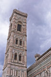Bell tower detail of Florence Santa Maria del Fiore cathedral in Tuscany Royalty Free Stock Photography
