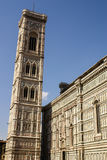 Bell tower and dome of the cathedral of Florence. Stock Photo