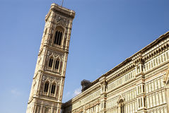Bell tower and dome of the cathedral of Florence. Royalty Free Stock Photos