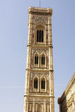 Bell tower and dome of the cathedral of Florence. Stock Images