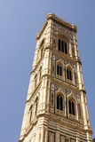 Bell tower and dome of the cathedral of Florence. Stock Photos