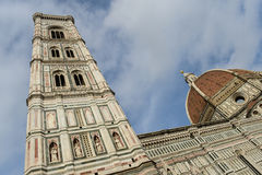 Bell tower and dome of the cathedral of Florence Stock Image