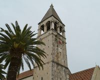The bell tower of the Dominican convent in Trogir Royalty Free Stock Photo