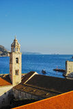 Bell tower of the Dominican Monastery in Dubrovnik. Stock Photos