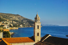 Bell tower of the Dominican Monastery in Dubrovnik. Bell tower of the Dominican Monastery in Dubrovnik, CROATIA Royalty Free Stock Images