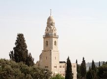 Bell Tower of Dormition Church, Jerusalem Royalty Free Stock Photos