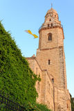 Bell tower of Dormitsion abbey in Jerusalem Royalty Free Stock Photography