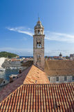 Bell tower in Dubrovnik. Bell tower of the Dominican Monastery of Dubrovnik Royalty Free Stock Photography