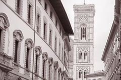 Bell Tower of Duomo Cathedral Church, Florence Stock Photo