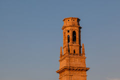Bell Tower of Duomo Cathedral in Verona Stock Photography