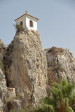 Bell tower on el castell de guadalest Royalty Free Stock Images