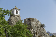 Bell tower on el castell de guadalest Royalty Free Stock Photos