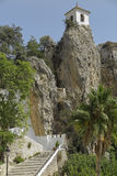 Bell tower on el castell de guadalest Stock Image