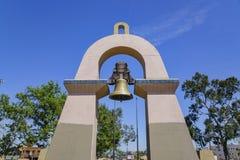 Bell tower at El Parque de Mexico Park. Los Angeles, California stock photos