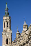 Bell tower of el pilar, zaragoza Royalty Free Stock Photos