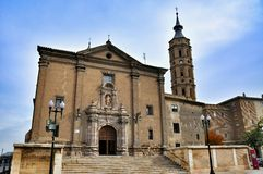 Bell tower of el pilar, Zaragoza Royalty Free Stock Photography